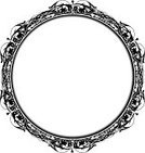 Circle,Frame,Victorian Style,Black Color,Ornate,Grunge,Flower,Floral Pattern,Curve,Old-fashioned,Scroll Shape,White,Vector,Backgrounds,Pattern,Swirl,Decoration,Design,Art,Abstract,Shape,Creativity,Symmetry,Ilustration,Drawing - Art Product,Visual Art,Arts And Entertainment,Illustrations And Vector Art