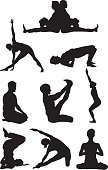 Yoga,Sport,Silhouette,Stretching,Exercising,Women,Sitting,Relaxation Exercise,Men,Zen-like,Meditating,People,Vector,Male,Comfortable,Female,Activity,Relaxation,Adult,Lifestyles,Contemplation,25-29 Years,Computer Graphic,Buddhism,Healthy Lifestyle,Athlete,Young Adult,Sports Training,Leisure Activity,Design Element,Recreational Pursuit,Digitally Generated Image,Physical Activity,Concentration,Carefree