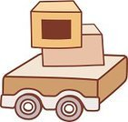 Crate,Box - Container,Wheel,Loading,Transportation,Doodle,Shipping,Cart,Freight Transportation,Luggage Cart