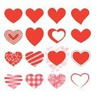 Heart Shape,Symbol,Computer Icon,Vector,Valentine's Day - Holiday,Simplicity,Love,Ilustration,Valentine Card,Collection,Creativity,Image,Design Element,Red,Paintings,Set,Design,Style,Decoration,Digitally Generated Image,Pattern,Variation