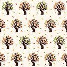 Backgrounds,Shape,Textile,Old-fashioned,Repetition,Ilustration,Seamless,Decoration,Vector,Modern,Pattern,Autumn,Summer,Forest,Style,Tree,Twig,Environment,Nature,Leaf,Autumn Collection