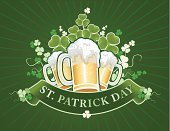 Beer - Alcohol,St. Patrick's Day,Irish Culture,Clover,Vector,Party - Social Event,Backgrounds,Mug,patrick,Green Color,Day,Symbol,Exploding,St,Drunk,Glass,People,Flower,Bubble,Luck,Floral Pattern,Cold - Termperature,March,Design,Plant,Ilustration,Celebration Event,Saint,Swirl,Textured Effect,Glass - Material,Scroll Shape,Elegance,Decoration,Growth,Cultivated,Cultures,Ornate,Parties,Flowers,White,Nature,Food And Drink,Holidays And Celebrations,Alcohol