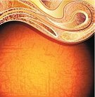 Swirl,Backgrounds,Orange Color,Abstract,Decoration,Decor,Pattern,Style,Vector,Retro Revival,Textured,Ornate