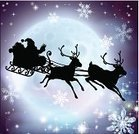 Santa Claus,Sled,Sleigh,Christmas,Silhouette,Back Lit,Focus On Background,Father,Ilustration,Glowing,Vector,Outline,Stencil,Winter,Sky,siloettes,Cartoon,Black Color,Animated Cartoon,Shape,Backdrop,Flying,Image,Full,Reindeer,Shadow,Drawing - Art Product,Moon,White,Large,Graphic Designer,siloette,Art Product,Computer Graphic,Backgrounds,Clip Art