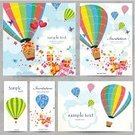 Hot Air Balloon,Air,Invitation,Birthday,Vector,Transportation,Romance,template,Fun,Gift,Summer,Postcard,Abstract,Ilustration,Scrapbook,Greeting,Flying,Computer Graphic
