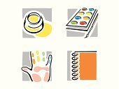 Palette,Paintbrush,Human Hand,Artist,Computer Icon,Drawing - Activity,Religious Icon,Painter,Art,Craft,Paint,Symbol,Watercolor Painting,Recreational Pursuit,Paper,Color Image,Art Product,Spiral Notebook,Outline,Creativity,Backgrounds,Vector,Multi Colored,Series,Skill,Computer Graphic,Classical Style,Leisure Activity,pictorial,People,Clip Art,Hobbies,Illustrations And Vector Art,Palm,vinyl-ready,handcarves,distemper,Design,Drawing - Art Product,Ilustration