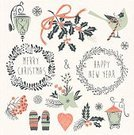 Christmas,Wreath,Winter,Computer Icon,Old-fashioned,Garland,Gift,Christmas Ornament,Label,Holiday,Holly,Ilustration,Bird,New Year's Eve,Chinese New Year,Snowflake,Design,New Year's Day,New Year,Decoration,Christmas Decoration,Cute,Design Element,Computer Graphic,Heart Shape,Backgrounds,Ribbon,Set,Season,Vector,Greeting,Christmas Stocking,Art,Abstract,Rowanberry,Glove