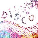 Disco,Multi Colored,Pattern,Party - Social Event,Backgrounds,Mosaic,Vector,Ilustration,Alphabet