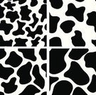Cow,Spotted,Backgrounds,Black Color,Animal Skin,White,Black And White,Pattern,Farm,Seamless,Fur,Abstract,Fur,Monochrome,Ilustration,Sparse,Simplicity,Vector,Animal,Set,Design,Nature,Shape
