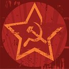 Former Soviet Union,Star - Space,Communism,Sickle,Dirty,Hammer,Grunge,Symbol,Insignia,Star Shape,Circle,Red,Red Background,Propaganda,Ilustration,Square,bolsheviks,No People,Yellow