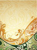 Green Color,Backgrounds,Vector,Liquid,Design,Yellow,Flowing Water,Abstract,Flowing,Ilustration,Curve
