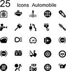Computer Icon,Symbol,Car,Workshop,Auto Repair Shop,Tire,Vehicle Part,Repairing,Engine,Land Vehicle,Check Mark,Mechanic,Sign,Transportation,Silhouette,Brake,Vector,Work Tool,Ilustration,Business,Service,Design Element,Wheel,Set,Black Color,Part Of,Design,Isolated,Oil,Gear,Battery