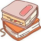 Clip Art,hard cover,Book,Textbook,Bookmark
