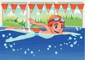 Swimming Pool,Swimming,Vector,Swimming Animal,Child,Little Boys,Face Guard - Sport,Landscape,Smiley Face,Swimwear,Student,Sport,Summer,Mountain,Cheerful,Swimming Goggles,Teenager,Young Adult