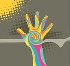Human Hand,Change,Spirituality,Pop Art,Psychedelic,Abstract,Music,Color Image,Backgrounds,Touching,Swirl,Creativity,Sun,Religion,Palm,Striped,Multi Colored,Growth,Vector,Beginnings,1970s Style,Body Paint,Dancing,Design,Black Color,Flowing,Spotted,New,Wave Pattern,Modern,Human Finger,Mystery,Square,Close-up,Ilustration,handcarves,People,Illustrations And Vector Art,retro pop