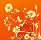 Bouquet,Flower,Abstract,Orange Color,Petal,Silhouette,Floral Pattern,Leaf,Frame,Curled Up,Vector,Stem,Computer Graphic,Creativity,Curve,Ilustration,Design,Beauty,Elegance,Part Of,Illustrations And Vector Art,Fashion,Art,Design Element,Beauty And Health,Decoration,Beauty In Nature,Painted Image,Backgrounds