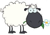 Sheep,Joy,Happiness,Computer Graphic,Smiling,Paintings,Humor,Multi Colored,Clip Art,Vector Cartoons,Drawing - Art Product,Image,Image Type,Color Image,Ilustration,Animal,Cheerful,Design,Isolated On White,Illustrations And Vector Art,Digitally Generated Image,Livestock,Painted Image,Mascot,Vector,Single Flower,Characters,Cartoon