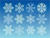 Snowflake,Snow,Winter,Backgrounds,Vector,Symbol,Ice,Abstract,Ilustration,Cold - Termperature,Weather,Set,Blue,Art,Frozen,Design,Color Image,Painted Image,No People,Large Group of Objects,Nature Abstract,Illustrations And Vector Art,Nature