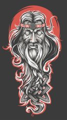 God,Tattoo,Medieval,Celtic Culture,Men,Russia,Mythology,Indigenous Culture,Paranormal,Art,Fairy,Magician,Wizard,Power,Talking,Adult,Mature Adult,Imagination,Old,Human Hair,Beard,Senior Adult,Drawing - Art Product,Luck,Fantasy,Vector,Wisdom,Male,Cultures,Human Face,Ilustration,Magic,People,Shaman