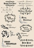 Christmas,New Year's Eve,Design,New Year,Non-Western Script,Vector,New Year's Day,Christmas Decoration