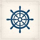 Helm,Nautical Vessel,Ship,Driving,Retro Revival,Adventure,Backgrounds,Nautical Equipment,Vacations,Direction,Blue,Old,Grunge,Journey,Design Element,Symbol,Sailing,Vector,Sea,Design,Style,Travel,Textured,Cute,Ilustration,Wheel