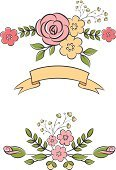 Retro Revival,Old-fashioned,Ornamental Garden,Flower,Pink Color,Drawing - Art Product,Wedding,Design Element,Floral Border,Plant,Ribbon,Leaf,Rose - Flower,Nature,Romance,Frame,Postcard,Greeting Card,Label,Green Color,Bouquet,Flower Head,Season,Fashion,Dating,Birthday,Isolated,Ornate,Scrapbook,Cute,Color Image,Celebration,Set,Invitation,Greeting,Femininity,Group of Objects,Decoration,Floral Pattern,Elegance