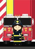 Characters,Emergency Services,Emergency Services Occupation,Vector,Heroes,Truck,Van - Vehicle,Uniform,Fire Station,Arson,Women,Smoke Jumper,Occupation,Fire - Natural Phenomenon,Work Helmet,Fire Engine,Firefighter,Assistance,Fire Department Sign,Cartoon,Cute,Smiling,Clip Art