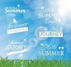 Blue,Nature,Summer,Green Color,White,Abstract,Art,Backgrounds,Vector