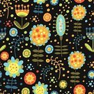 Backgrounds,Formal Garden,Computer Graphic,Art,Curled Up,Fun,Leaf,Eternity,Dark,Contrasts,Light - Natural Phenomenon,Repetition,Composition,Decor,White,Bright,Shape,Orange Color,Design,Springtime,Colors,Blue,Yellow,Seamless,Ilustration,Blossom,Print,Application Form,Sketch,Floral Pattern,Beautiful,Female,Large Group of Objects,Flower,Stem,Black Color,Wallpaper,Green Color,Drawing - Art Product,Pattern,Summer,Cheerful,Decoration,Red