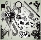 Computer Graphic,Grunge,Design Element,Design,Graffiti,Circle,Sign,Vector,Retro Revival,Pattern,Funky,Arrow Symbol,Motor Scooter,Direction,Splattered,Bomb,Ilustration,Spray,Black Color,White,Star Shape,Drop,Clip Art,Spotted,Sunbeam,Gray,Concentric,Squiggle,Copy Space,Beauty And Health,Fashion