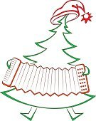 Music,Christmas Decoration,Christmas,Tree,Ilustration,Outline,Celebration,Musical Theater,Vector,Cap,Cartoon,Holiday,Popular Music Concert,Year,Silhouette,Russia,Season,Toy,Christmas Ornament,Red,Decoration,Symbol,Isolated,Accordion,Dancing,Playing,Computer Icon,Humor,Cheerful,Nature,Green Color,Coniferous Tree,Pine Tree,accordionist,Musician,Outdoors,Winter,Gift,Fir Tree,Musical Instrument,New