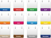 Calendar,Blank,Icon Set,Internet,Gray,March,Symbol,April,November,February,Yellow,October,Multi Colored,July,White,Year,Colors,May,Design,Brown,Green Color,Purple,Orange Color,Red,Computer Icon,Vector,Ilustration,January,Blue,template,Month,Collection,December,August,Set,September,Computer Graphic,June