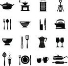 Kitchenware Department,Vector,Appliance,Silhouette,Domestic Kitchen,Symbol,Crockery,Icon Set,Knife,Group of Objects,Work Tool,Backgrounds,Coffee - Drink,Food,Drink,Dinner,Wineglass,Collection,Design,Spoon,Bottle Opener,Design Element,Cup,Tile,Bowl,Glove,Corkscrew,Silverware,Sign,Wallpaper Pattern,Cooking,Plate,Black Color,Variation,Personal Accessory,Domestic Life,Ilustration,Set,Equipment,Colander,Isolated