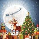 Moon,Locomotive,Moon Surface,Holiday,Rudolph The Red-nosed Reindeer,Snowing,Vector,Sleigh,Gift,Rocket,Design Element,Teddy Bear,Drum,Cartoon,Winter,Santa Claus,Symbol,Night,Christmas,Toy,Helicopter,Reindeer,Cheerful,Holding,Happiness,Star Shape,Red,Smiling