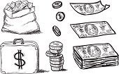 Doodle,Coin,Currency,Business,Finance,Wallet,Image,Sign,Pencil,Symbol,Abstract,People,Collection,Calculator,Bag,earnings,Vector,Banking,Ilustration,Making Money,Charity and Relief Work