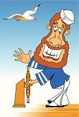Helm,Seagull,People,Old-fashioned,Drawing - Art Product,Navy,Sailboat,Ship,Team Captain,Classic,Nautical Vessel,Scale,1950s Style,Convoy,Retro Revival,Clip Art,Navy Blue,Marines,Vector,Driving,Sailor,Men,Computer Graphic
