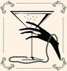 Female,Human Hand,Silhouette,Alcohol,Martini,Ilustration,Ornate,Frame,Frame,Glass,Retro Revival,Vector,The Past,Image,Wine,Old-fashioned,Black Color,Backgrounds,History,Drawing - Activity