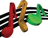 Three-dimensional Shape,In A Row,Symbol,Musical Note,Computer Icon,Sheet Music,Music,Vector