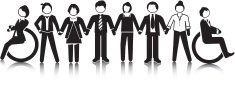 People,Disabled,Vector,Equality,Standing,Diagram,Stick Figure,Simplicity,Business,neutral background,Suit,Ilustration,In A Row,Concepts,Men,Symbol,Design Element,Team,Businesswoman,Businessman,Group Of People,Women,Information Symbol,Equal Opportunity