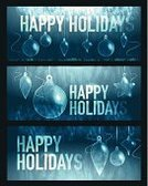 happy holidays,Glass - Material,Blue,Winter,Decoration,Set,Christmas,Design,Backgrounds,Text,Vector,Banner,Holiday,Christmas Decoration,Ilustration,Textured,Christmas Ornament