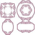 Pattern,Elegance,Nature,Decoration,Set,Romance,Frame,Collection,Ilustration,Abstract,Ornate,Curled Up,Vector