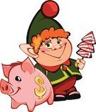 Pig,Christmas,Candy,New Year,Small,Fun,Elf,Badge,Smiling,Computer Icon,Holiday