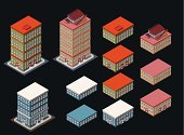 Isometric,Town,Ilustration,City Life,Cartoon,Building Exterior,Sparse,Real Estate,Modern,Architecture,Built Structure,City,Hotel,Apartment,Urban Scene,People,Construction Industry