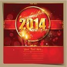 Snowflake,Happy New Year Card,Backgrounds,Color Image,Ilustration,Vector