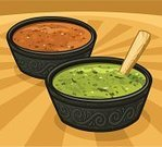 Dip,Bowl,Mexican Culture,Salsa,Sauces,Food,Vector,Crockery,Avocado,Chili Pepper,Ilustration,Salsa Verde,Condiment,Variation,Side Dish,Onion,Spice,Spoon,Wooden Spoon,Pepper - Vegetable,Green Color,Preparation,Chopped,Relish,Hot Sauce,Green Eyes,Strength,yummy,Improvement,Salsa Roja,Red,Food And Drink,Stinging,Refreshment,Cooking,flavorful,pungent,Elegance,Peppery Salsa,Burning Taste,Seasoning,combined,Unripe,Illustrations And Vector Art