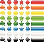 Computer Icon,Symbol,Rectangle,Shiny,Internet,Icon Set,Set,Glass - Material,Interface Icons,Backgrounds,Banner,Web Page,Badge,Push Button,Green Color,Blue