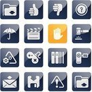 Thumbs Up,Symbol,Thumbs Down,Book,Film Slate,Computer Icon,Icon Set,Hammer,Sign Language,Sign,E-Mail,Shiny,Home Video Camera,Camera - Photographic Equipment,Envelope,Floppy Disk,Vector,Mail,Blue,Design Element,Modern,Gamepad,Concepts And Ideas,Business,Communication,Illustrations And Vector Art,Alert Sign