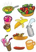 Salad,Cartoon,Smoothie,Food,Soup,Meal,Healthy Lifestyle,Lettuce,Healthy Eating,Fried,Ilustration,Candy,Appetizer,Banana,Humor,Ice Cream,Vegetable,Bread,Milk,Food And Drink,Vector,Dining,Lunch,Dinner,Drink,Dessert,French Fries,Snack,Summer,Beer - Alcohol,Fast Food,Take Out Food,Tomato,Holiday,Springtime,Color Image,restaurant food,Cool,Gourmet,Food And Drink,Isolated,American Culture,USA,Unhealthy Eating,Illustrations And Vector Art