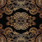 Lace - Textile,Ilustration,Arabic Style,Ornate,Antique,Abstract,Floral Pattern,Decoration,Old-fashioned,Dark,Vector,Gold Colored,Embroidery,Elegance,Black Color,Pattern,filigree,Luxury,Baroque Style,Art,Backgrounds,Curve,Curled Up