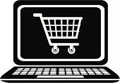 Retail,Home Shopping,Symbol,Laptop,Computer Icon,Internet,Electronics Industry,Electrical Equipment,E-commerce,Shopping